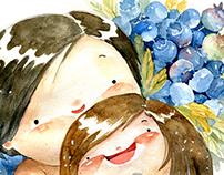 Chibi watercolor
