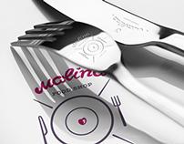 Концепция айдентики ~ Malina food shop ~ ID concept