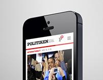 Politiken.dk – Mobile website