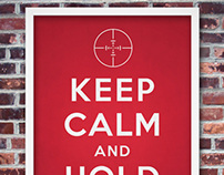 Keep calm and hold breath poster