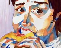 Watercolor Portraits, Fall 2009