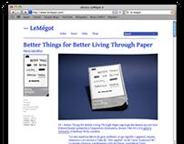 LeMégot – Art Direction & Website