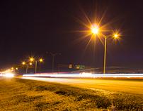 Lampadaires et Autoroutes