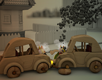Wooden Car Crash