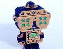 Mizale (See No Evil) wooden toy
