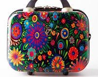 """Flowers dance"" Luggage collection Heys USA"