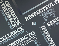 The Mx Group Corporate Values Wall
