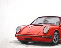 Porsche 911 Targa sketch