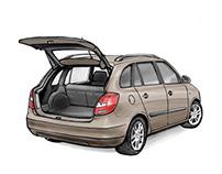 Various Illustrations for Skoda Auto
