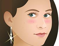 Flash illustration - Birthday figure