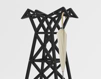 Power Lines Coat Hanger