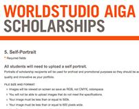 Client: Worldstudio AIGA Scholarships
