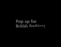 Pop up for British Fashion