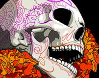 Cempaxóchitl Skull