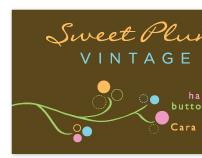 Sweet Plum Vintage Branding