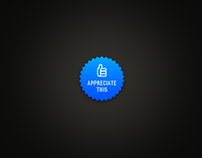 Embeddable Appreciate Button for Behance