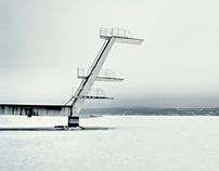 Foggy, Frozen Fjord