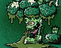"""Broken Broccoli"" Cartoon Character Sketch"