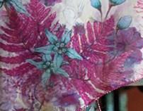 Patrones textiles - Pañoletas ilustradas