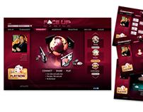 Website design, Face Up Gaming