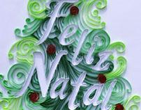 Feliz Natal em paper quilling