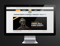 "Website design: ""New Life Digging"" campaign"