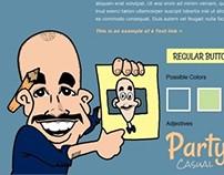 Caricaturist - Website and Brochure