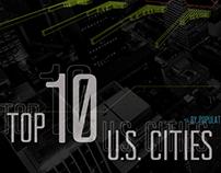 Top 10 U.S. Cities Infographic