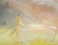 Bush Fire Painting