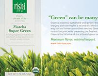 Ad Campaign-Eco-friendly Box Green Tea Line
