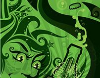 Steam Whistle Skateboard Illustration