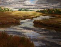 Cloud Breaks over the Marsh #3. Essex