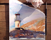 Lighthouses in sketches