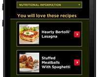 Bertollli Mobile Website