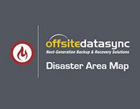OffsiteDataSync Disaster Area Map