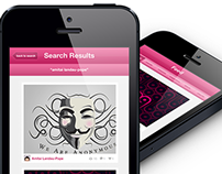 Dribbble iPhone App Design