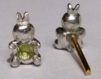 Handmade pewter earrings (2013)