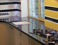 Kitchen, Kharkiv. acrylic solid surface