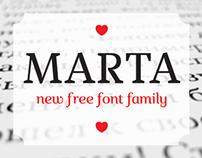Marta | Free Font