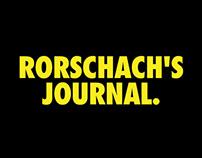 WATCHMEN - RORSCHACH'S JOURNAL