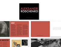 Aleksandr Rodchenko book design and layout