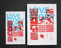 LOVE STORY exhibition / Leaflet & Invitation design