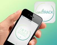 calTRACK - App UI Design + Logo and branding.