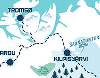 Print - Arctic Roadtrip Map