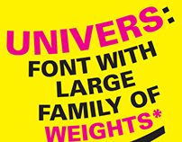 Univers Typography Poster