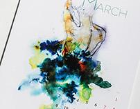 Water&Colors Calendar 2015