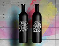 Chalk creative wine.