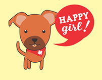 Happy Girl Puppy