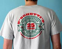 P'sghetti's 25th Anniversary T-shirt