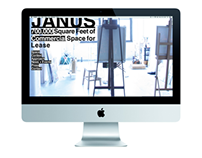 Homepage concepts for The Janus Property Companies